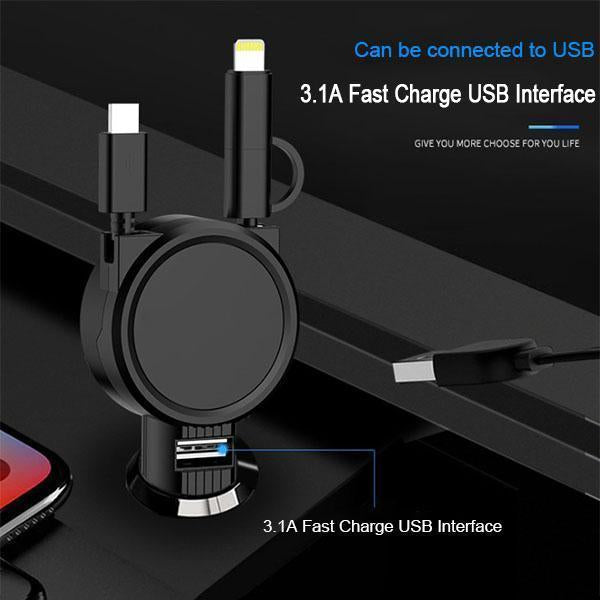 4 in 1 Car Folding Retractable USB Charger