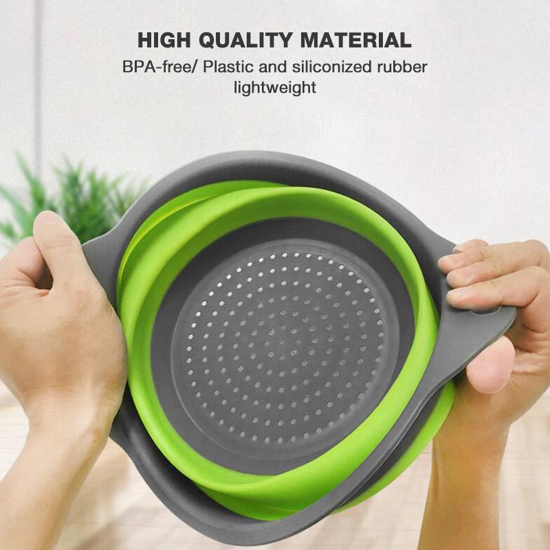 Silicone Folding Retractable Drain Basket