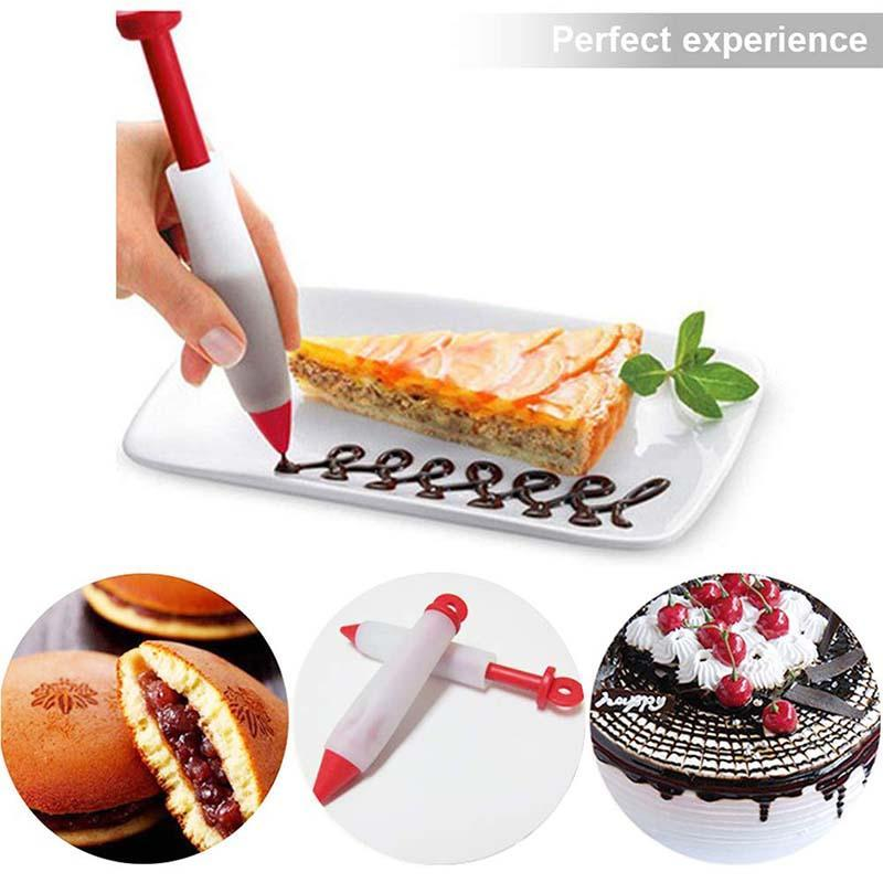 Cake DIY Graffiti Pen Squeeze Cream Baking Tool