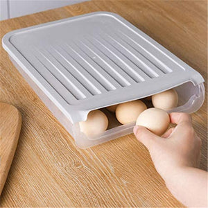 Auto Roll Transparent Egg Tray Storage Box Dispenser Holder