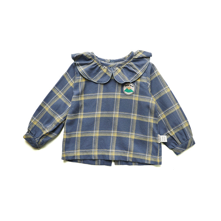 Plaid Blouse - Little in Modern