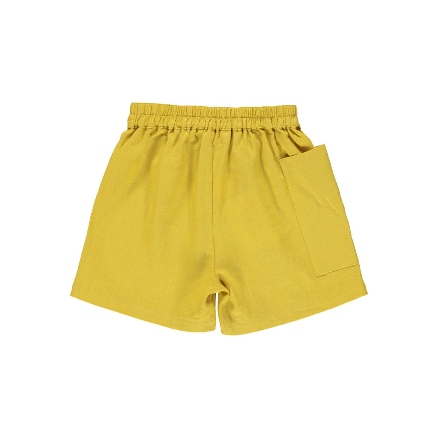 Mustard High-Waisted Shorts