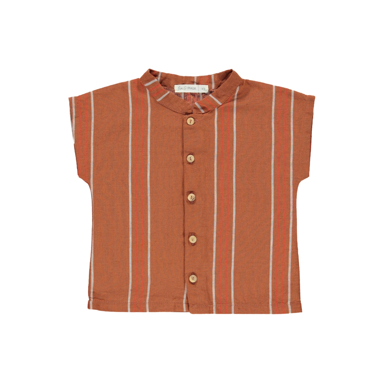 Rust Stripe Button Up