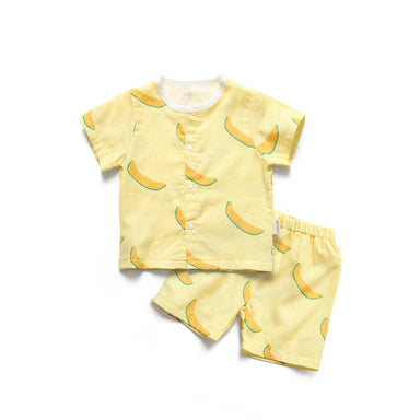 Cantaloupe Muslin Set - Little in Modern