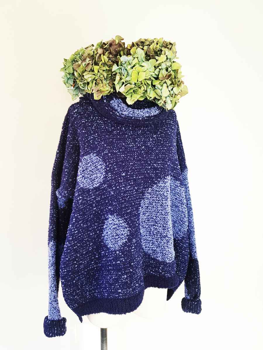 Fabrica alpaca spot funnel neck sweater