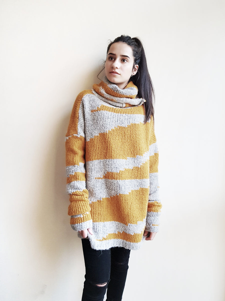 Fabrica Alpaca Geometric stripe Sweater