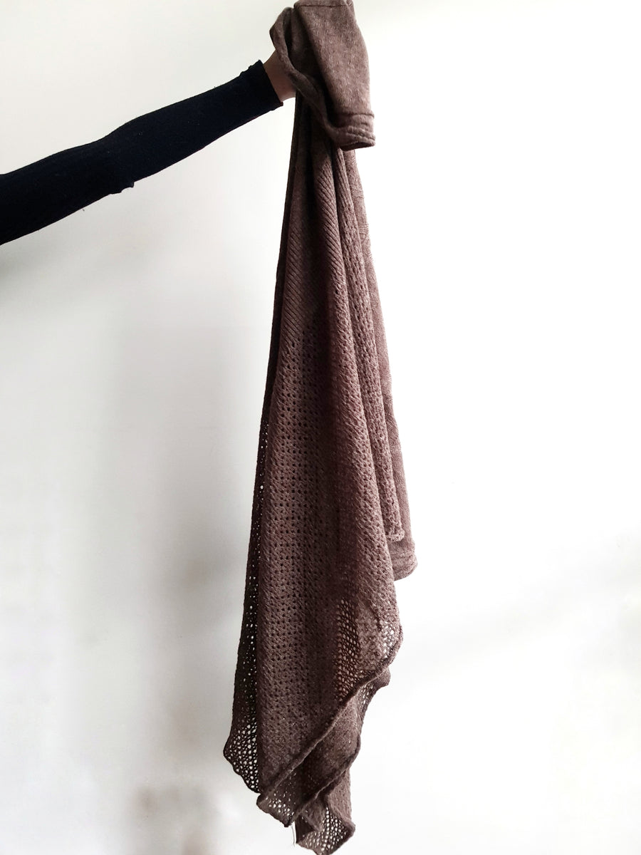 Amano alpaca lace travel wrap