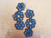 Amano tatting 'frivolite' hand crafted earrings