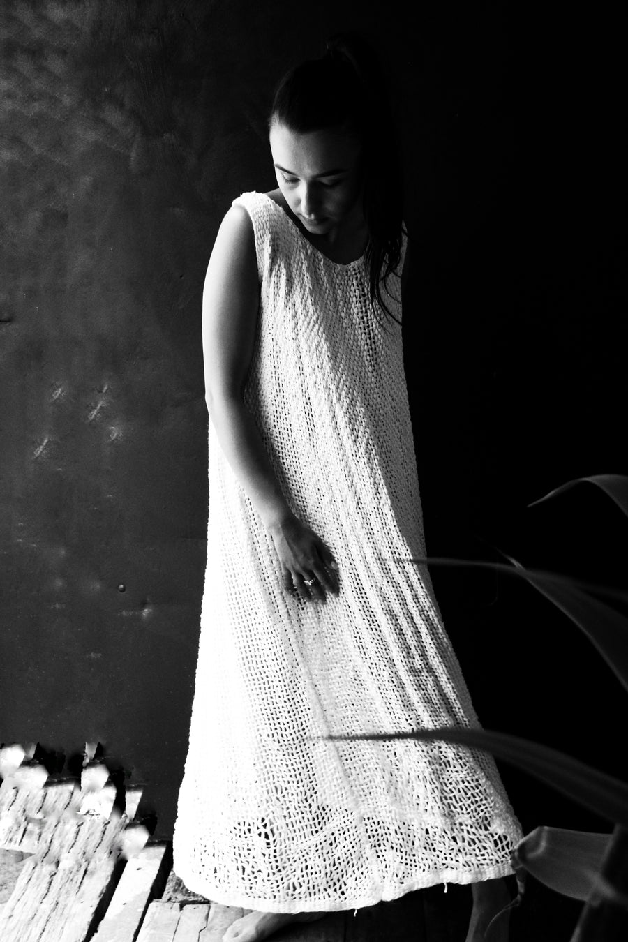 Amano loom woven maxi linen dress