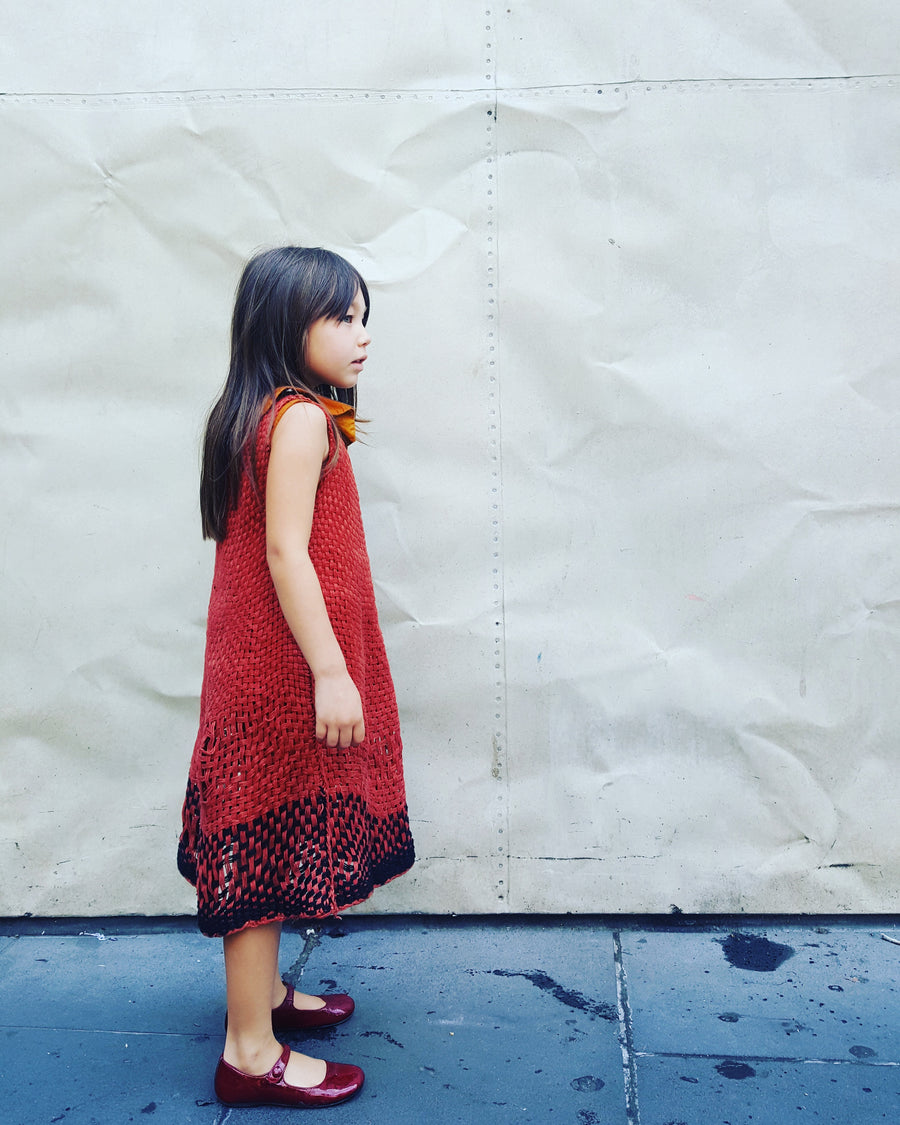 Amano kids handwoven linen dress