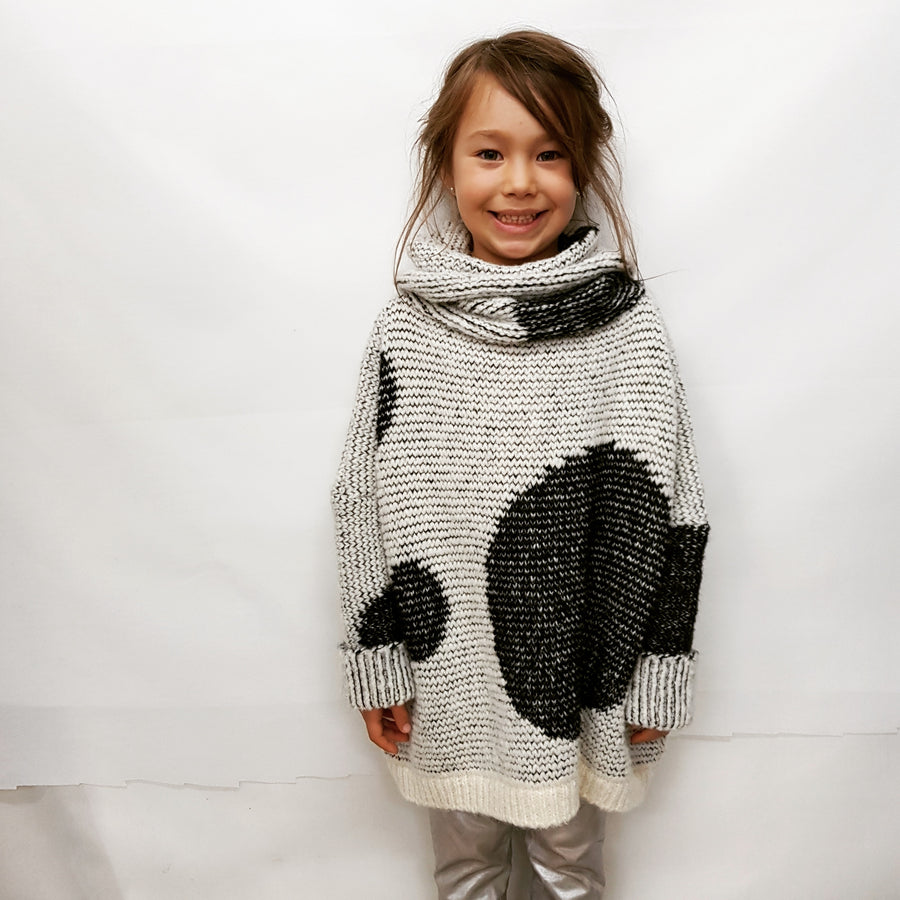 Fabrica kids alpaca spot sweater