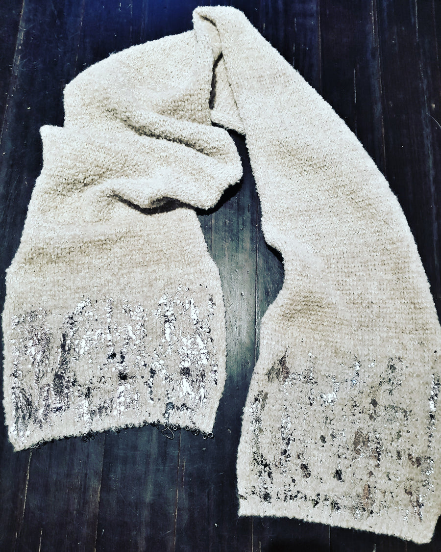 Fabrica baby Alpaca scarf with foil
