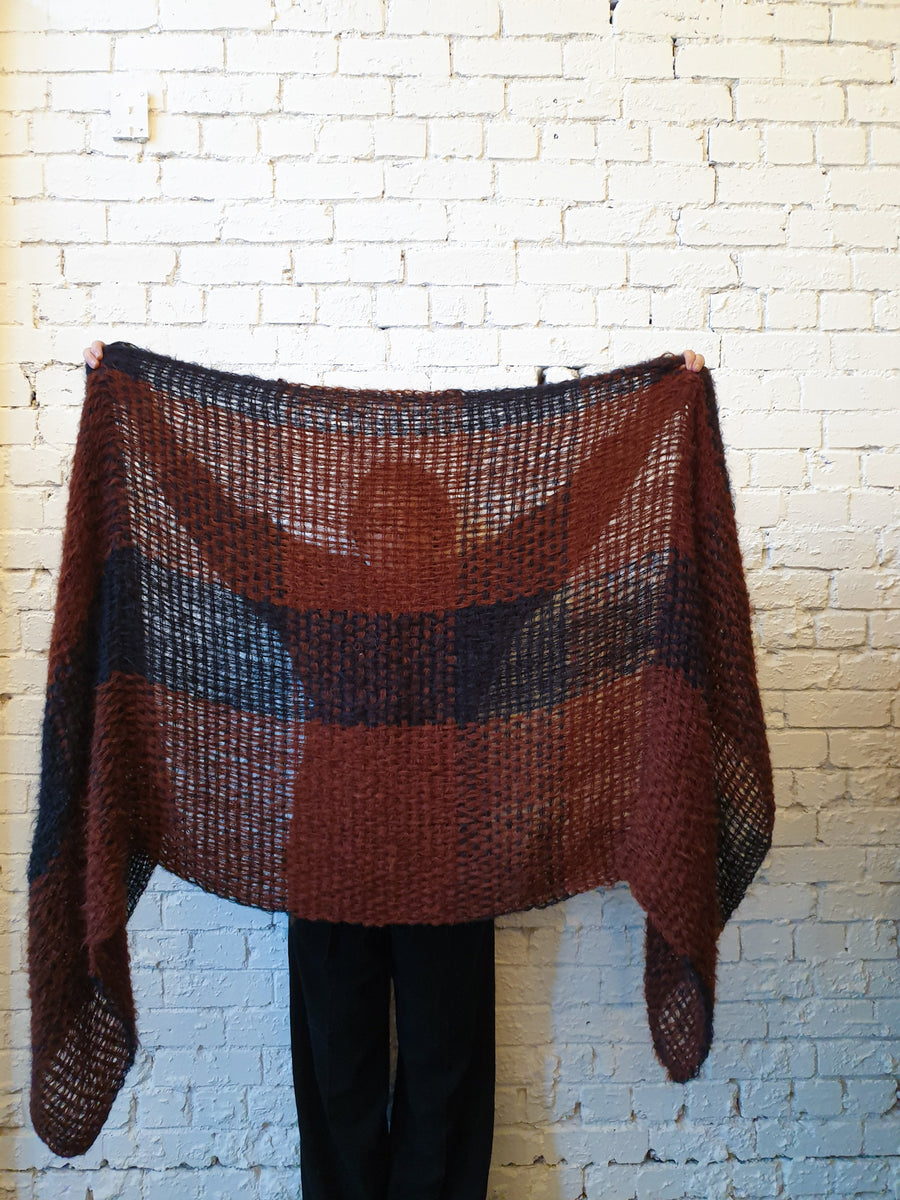 Amano loom handwoven large wrap
