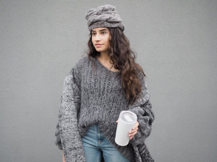 Amano by Lorena Laing cable alpaca hat