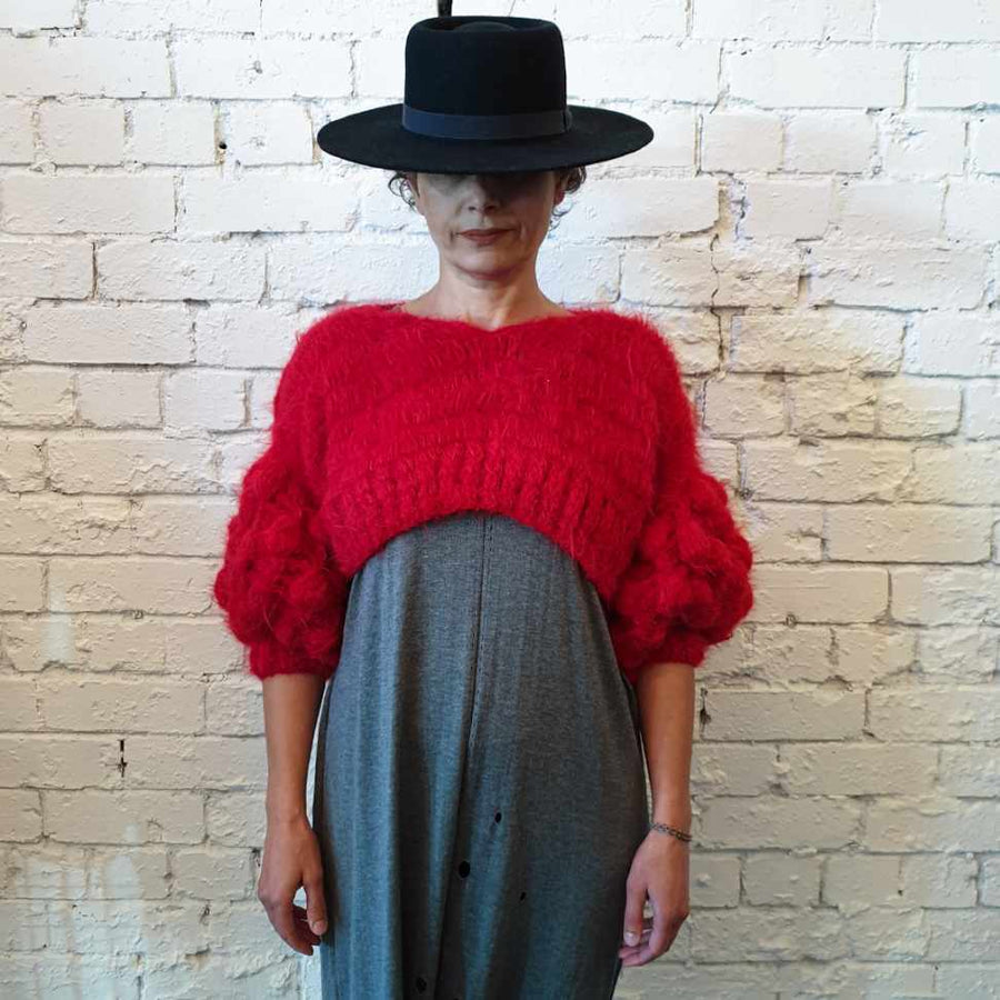 Amano Alpaca handcrochet crop knit sweater