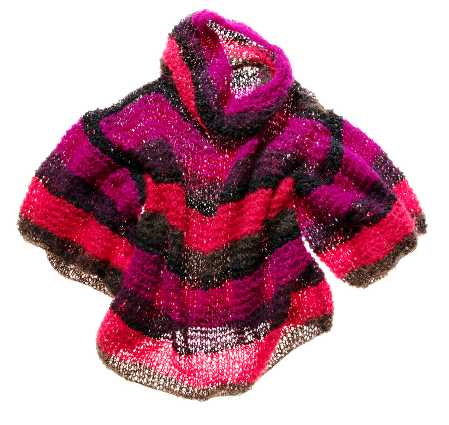 Amano handknit multi colour stripe sweater