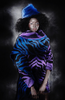 Amano colab zebra jacquard funnel neck sweater