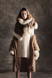 Amano alpaca hand loom swing coat