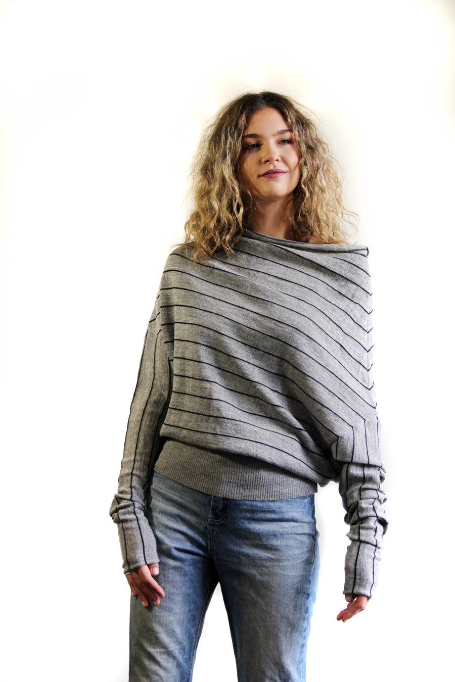 Fabrica baby Alpaca & silk cocoon sweater with foil