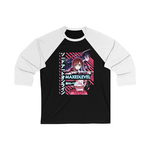 SAO x Maxed Level 3/4 Sleeve Baseball Tee