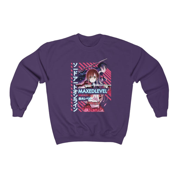 SAO x Maxed Level Crew Neck Sweatshirt