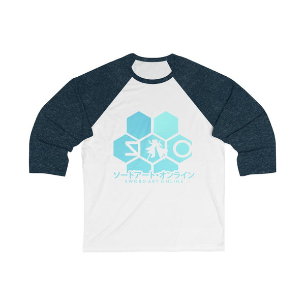 Sword Art Hexa 3/4 Sleeve Baseball Tee