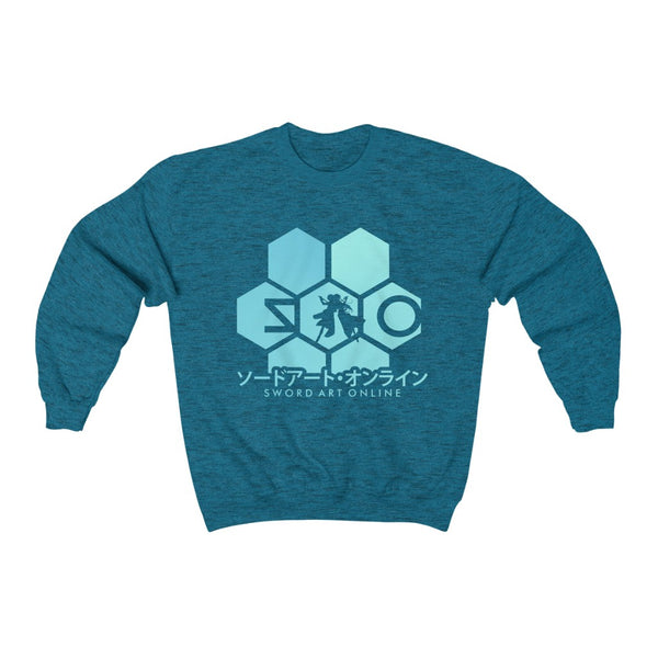 Sword Art Hexa Crew Neck Sweatshirt