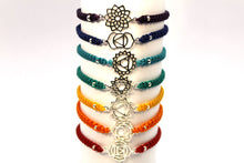 Load image into Gallery viewer, Chakra Didi macrame 7 bracelet set