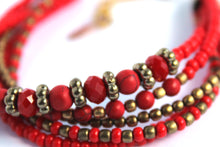 Load image into Gallery viewer, Najesha red Naj59 bracelet