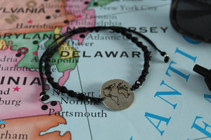 "Globetrotter ""world map"" macrame bracelet"
