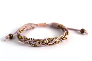Braid bracelet T145 mauve