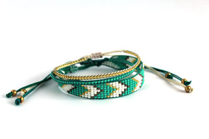 Bracelet 3 pack teal chevron N01
