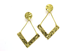 Simple Chevron pattern earring RAS013G