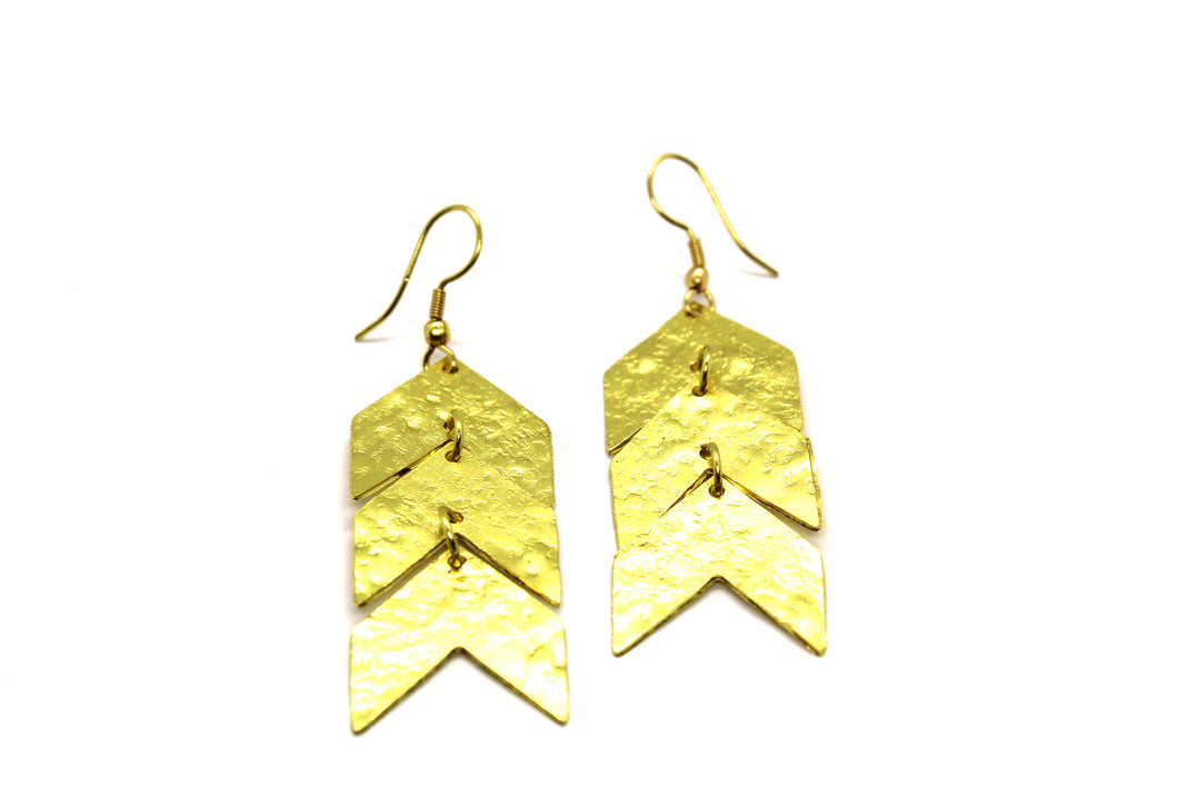 Triple pattern Chevron earring RAS017G