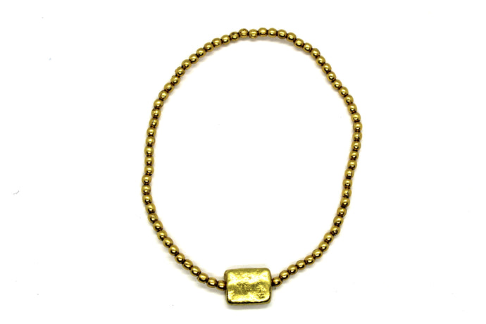 Gold bracelet pack of 10 TOF345G