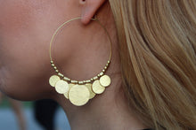 Load image into Gallery viewer, Gypsy coins earrings WAH678G