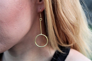 Circle and peg earring RAS048G