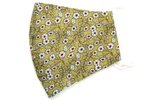 Load image into Gallery viewer, Face mask daisy field on khaki SHNT10