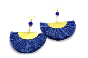 Fan Tassel earrings NAJ blue