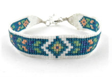 Load image into Gallery viewer, Huichol bracelet N328A turquoise