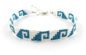 Naj329 Aztec waves bracelet