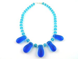 Naj113 seasglass drops necklace