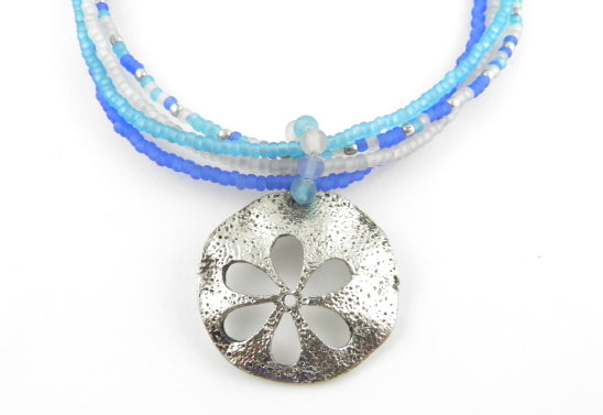 Naj119 silverdollar necklace