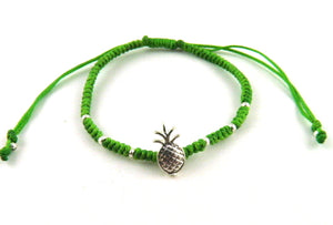 SR771 green pineapple macrame bracelet