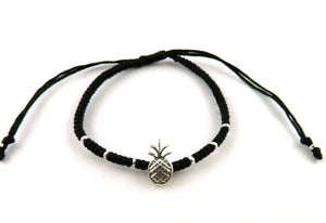 SR771 black pineapple macrame bracelet