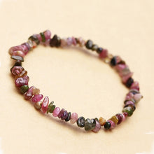 Load image into Gallery viewer, 2019 New Arrival Natural Garnet Bracelet Tourmaline Gravel Single Circle Bracelet Lucky Color Crystal Jewelry Gift For Women