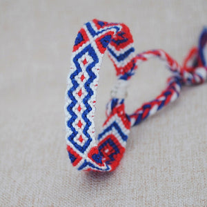 Ethnic Multi-color Hand Weave Braided Bracelets for Women Bohemian Vintage Cotton Rope Charm Bracelets Summer Jewelry
