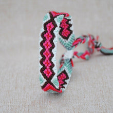 Load image into Gallery viewer, Ethnic Multi-color Hand Weave Braided Bracelets for Women Bohemian Vintage Cotton Rope Charm Bracelets Summer Jewelry