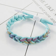 Load image into Gallery viewer, Multiple series Little Lion Fluorescent Woven Holographic Reflective Bracelet Luminous Colorful Starry Sky Shoelace Bracelet