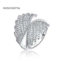 Load image into Gallery viewer, 9 Style Women 925 Sterling Silver Rings Jewelry Wing Flower Crown Double Circles Style Ring For Women Jewelry 1Pcs